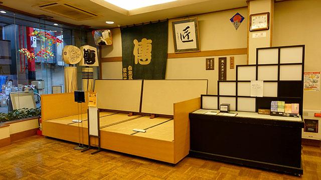 1階の展示(江戸下町伝統工芸館)
