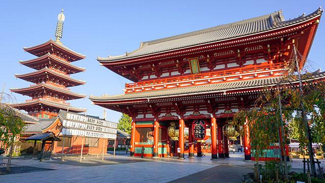 宝蔵門と五重塔(宝蔵門)