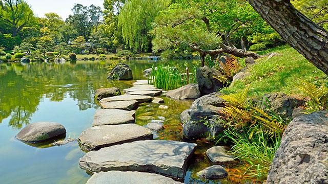 磯渡り(清澄庭園)