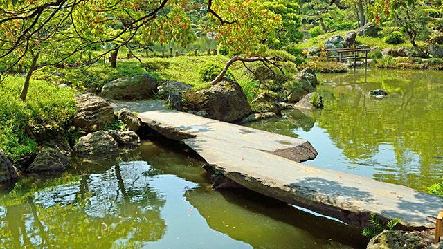 石橋(清澄庭園)