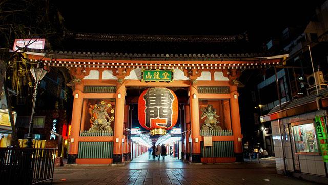 ライトアップ(浅草寺 雷門)