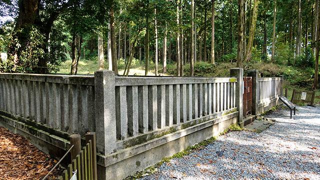 石塁(山宮浅間神社)