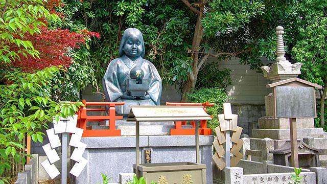 おかめ像とおかめ塚(大報恩寺)