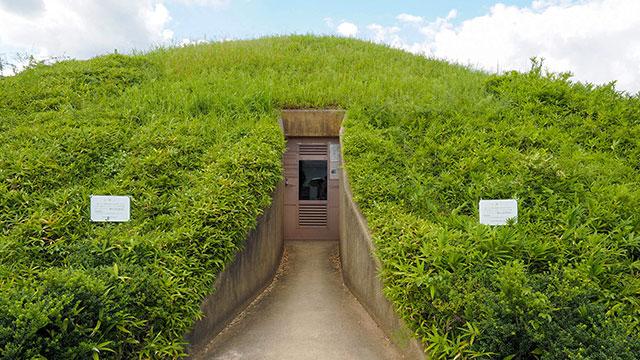 石室入口(藤ノ木古墳)